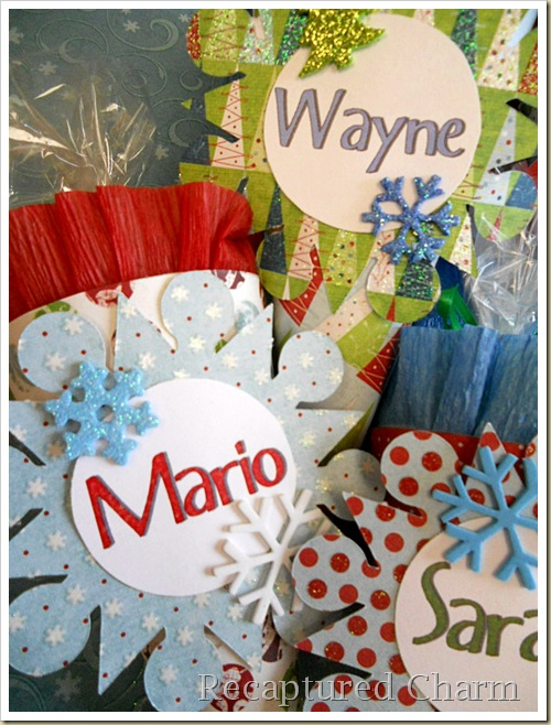 Paper Cone Party Favor Place Cards 044a
