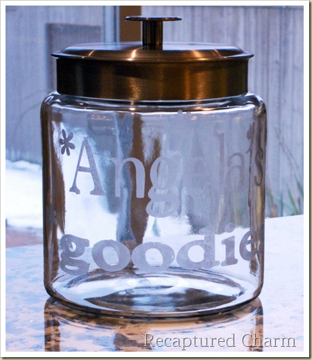 Etched Cookie Jar 029a