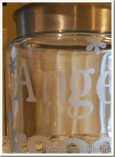Etched Cookie Jar 032a
