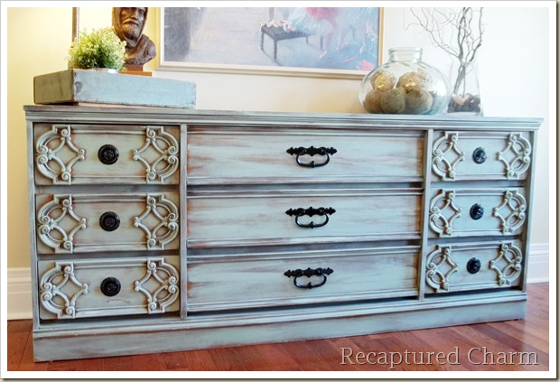 turquoise dresser 036a