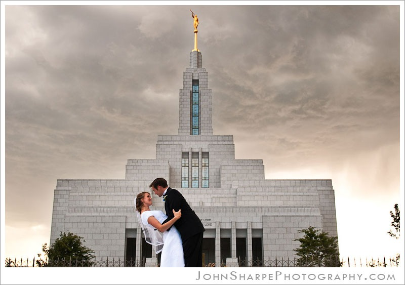 Bride Groom Draper Temple