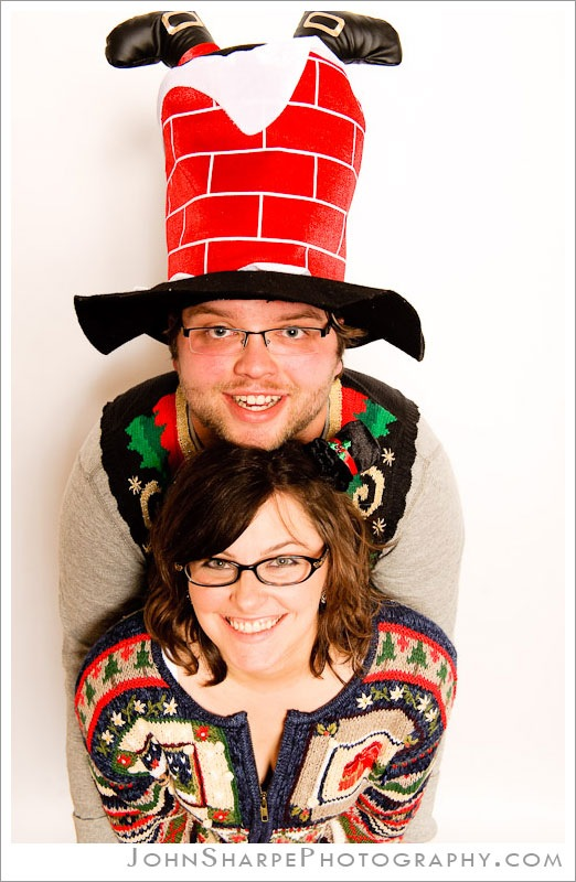 Ugly Sweater Christmas Party Photo Booth