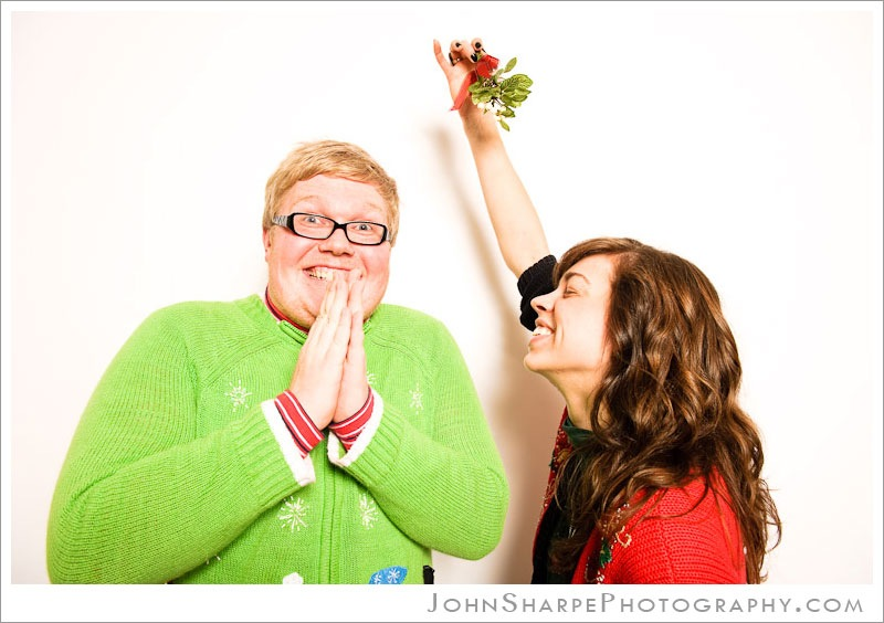 Mistletoe Ugly Sweater Christmas Party Photo Booth