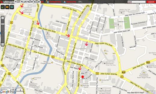 Nasi Lemak Ayam Kampung Ipoh Map