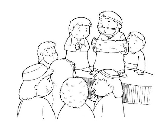 Dibujos para colorear de Jesus purifica el templo - Imagui