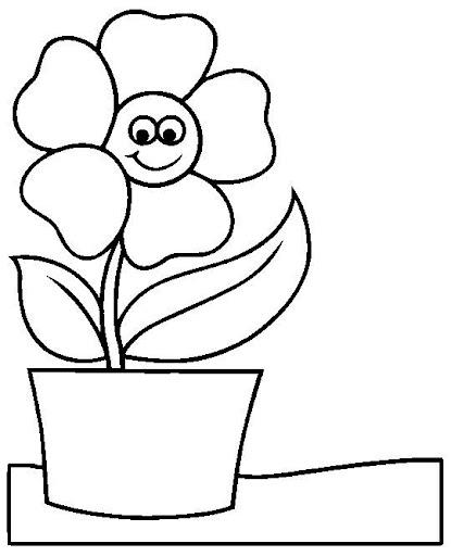 Flores para colorear for Plantas ornamentales para colorear