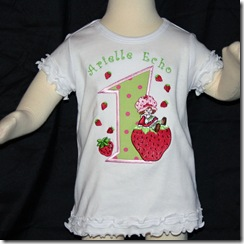strawberry shortcake onesie