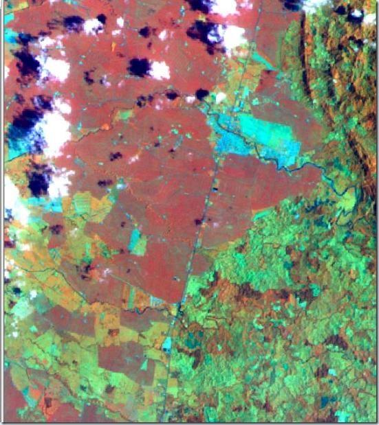 Resultado de falso color RGB 453