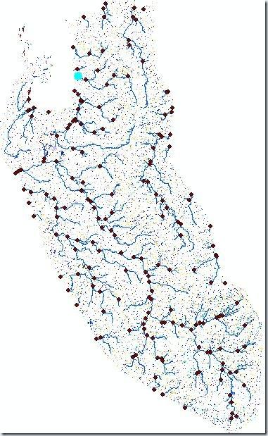 Punto de descarga de la cuenca