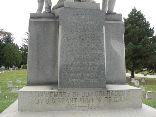 Civil War Memorial at Elmwood Park Cemetery 03