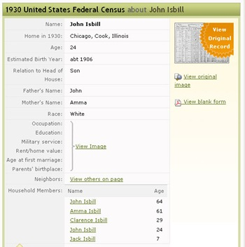 1930 Census - Cahill Indexed