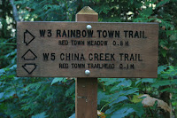 Trailhead Marker for Rainbow Town Trail Photo