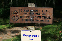 Cave Hole Trailhead Marker Photo