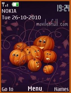 tema Pumpkins Halloween Symbian S40 5th Edición