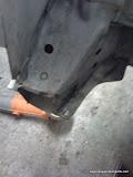 Cut lower support bracket
