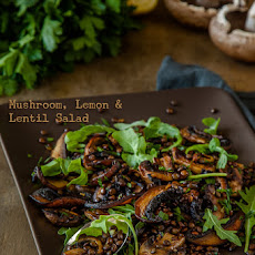 Mushroom, Lemon and Lentil Salad