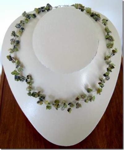 peridot and jasper necklace