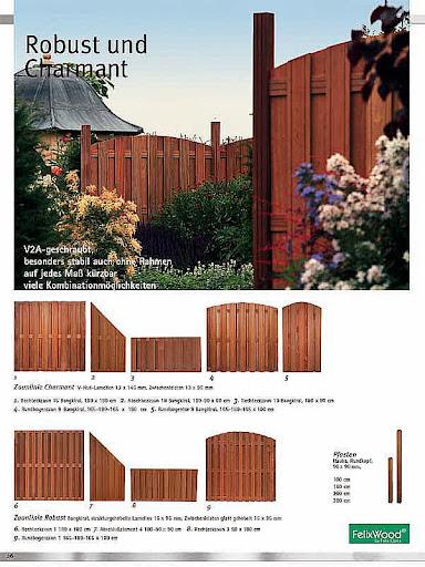 Bangkirai zaun 180 x 180 cm gerade dichtzaun v2a ebay for Holzland verbeek