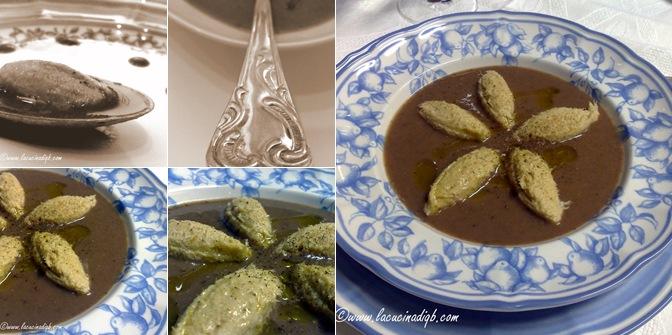 Visualizza vellutata di fagioli con foie gras e quenelle di baccalà