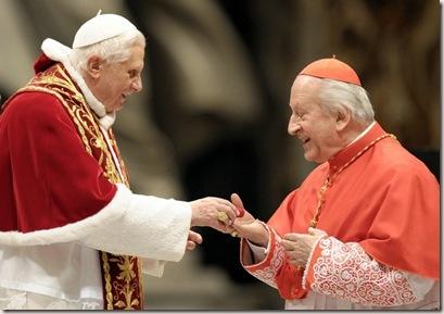 Card. Rodé con el Papa Benedicto XVI