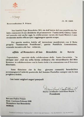 Carta Ecclesia Dei