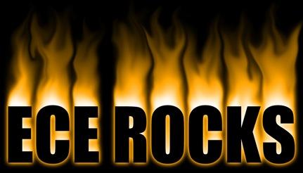 ECE Rocks Fire Text