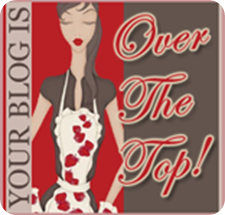 blog award over the top from Becky K