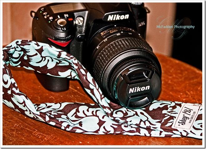 camera and strap