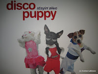 Disco Puppy: Stayin\' Alive brings kids even more funky moves to learn and explore as they interact with art in their very own disco dance party. Movements on the interactive dance floor affect the moves of three animated puppy characters - Pup Daddy, Miss Kitty and DJ Foxy.