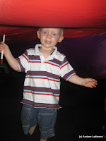 Disco Puppy at the Ipswich Art Gallery. Ben had a great time darting about under the parachute with the other kids.