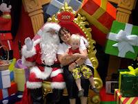 Ben and Grandma Karen visit Santa