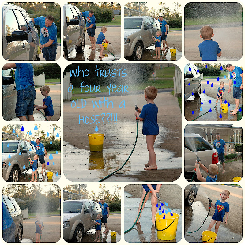 Picnik collage Washing the car