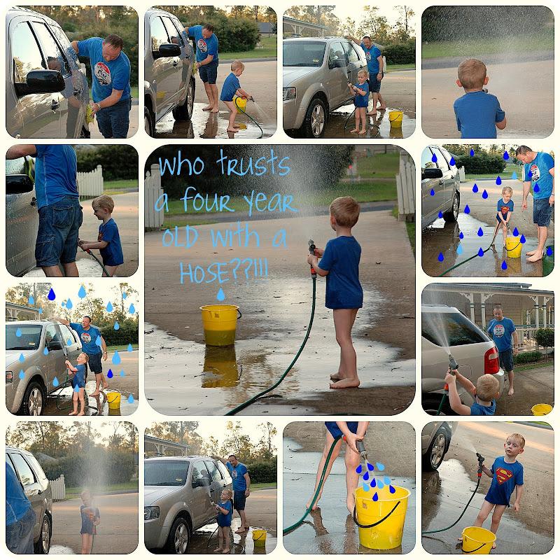 Picnik collage Washing the car