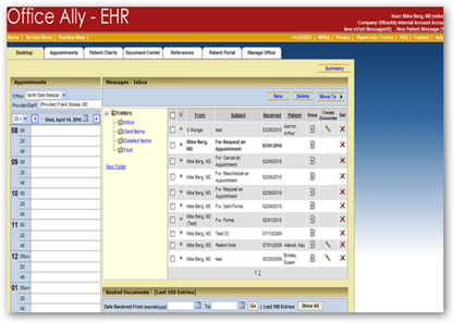 Office Ally EHR Web Based Software A Simple and Easy Format And ...