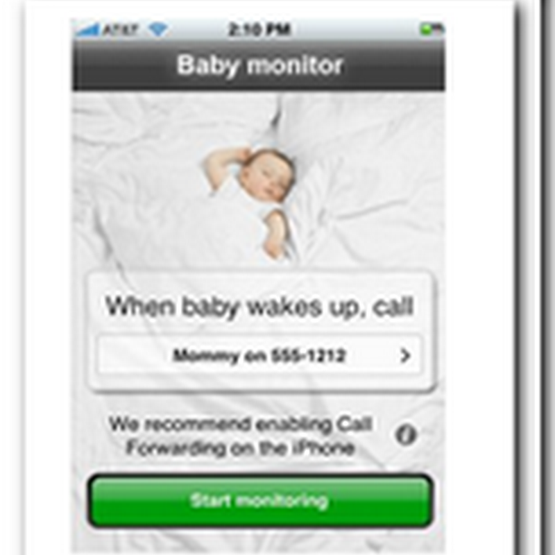 Baby monitor iPhone software calls you when baby cries – Cell phone users are getting started much earlier