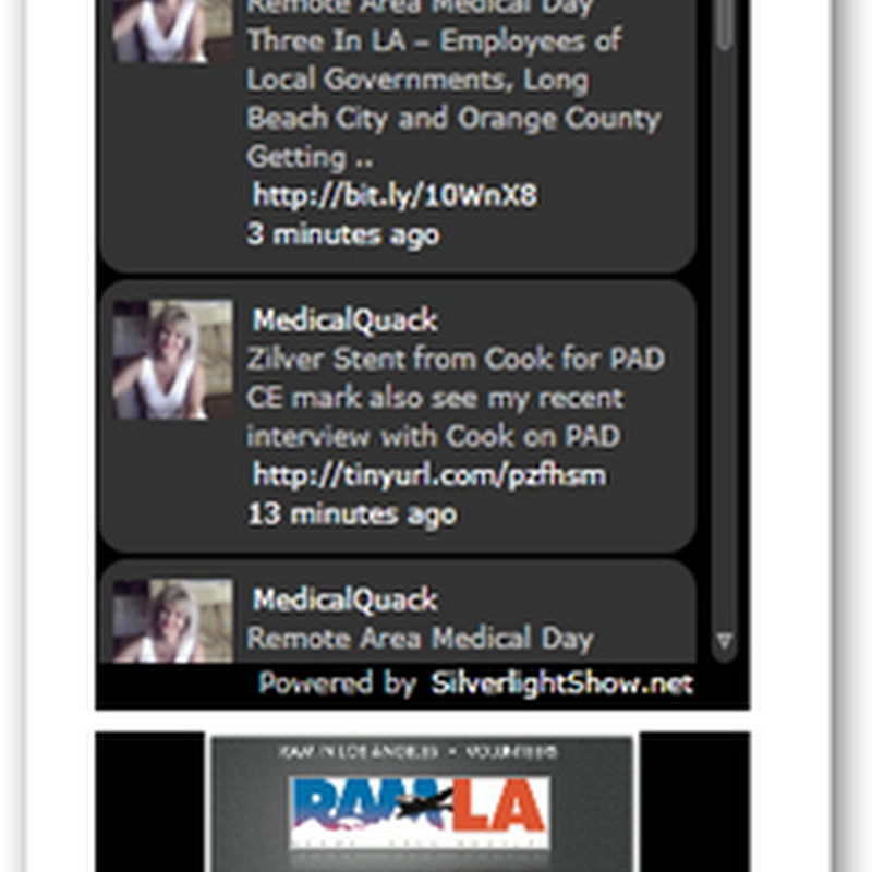Twitter Feeds In Silverlight On the Medical Quack