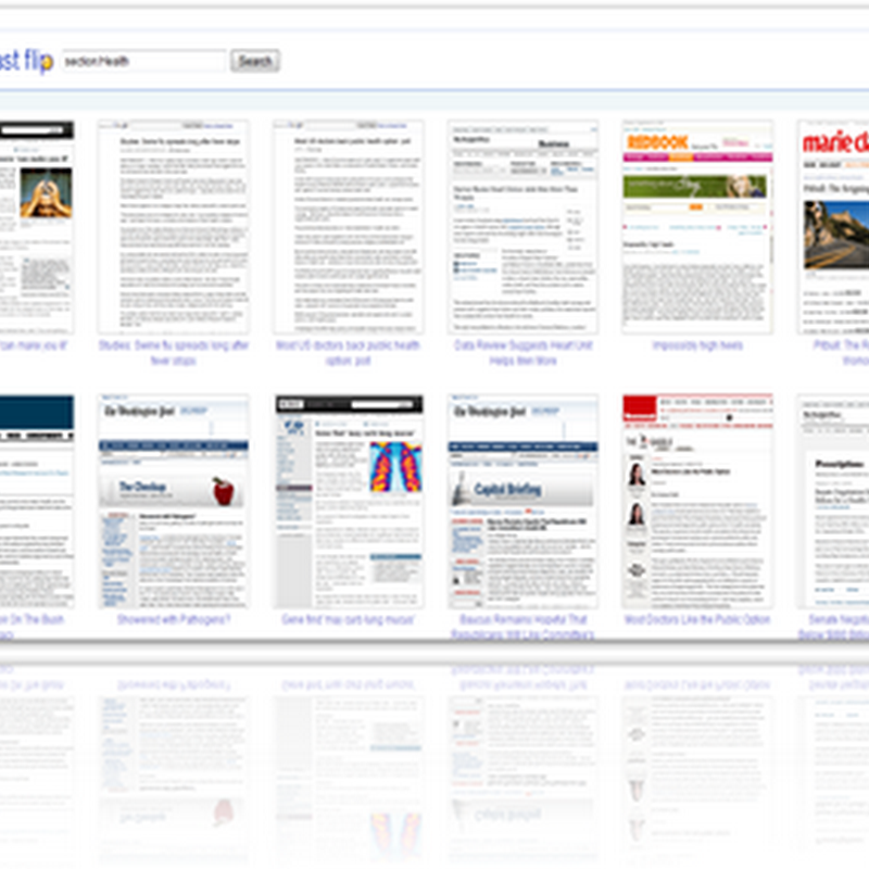Google's Fast Flip For Reading Online Newspapers and Magazines