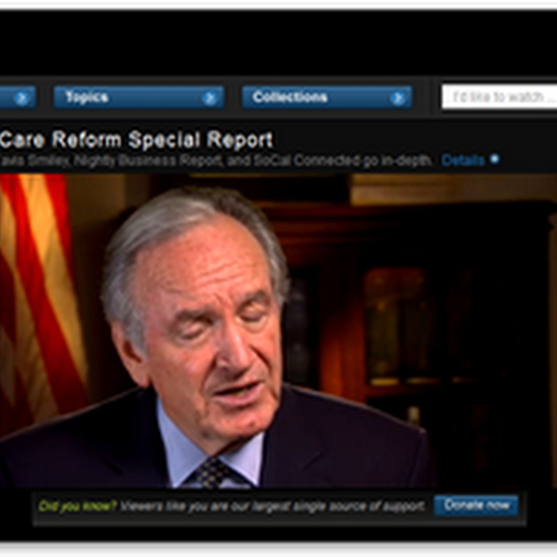 Health Care Reform Special Report – PBS Video – High Frequency Healthcare Reform