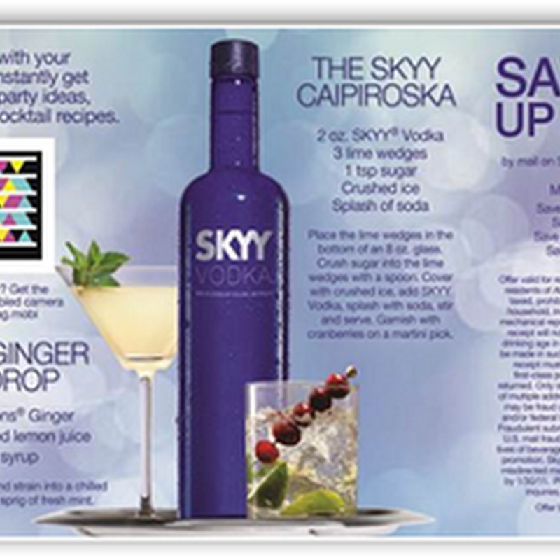 Skyy Vodka Using Microsoft Tags-We Can Find Out More About What We are Drinking-Would Be Nice if Tylenol & Others Did This