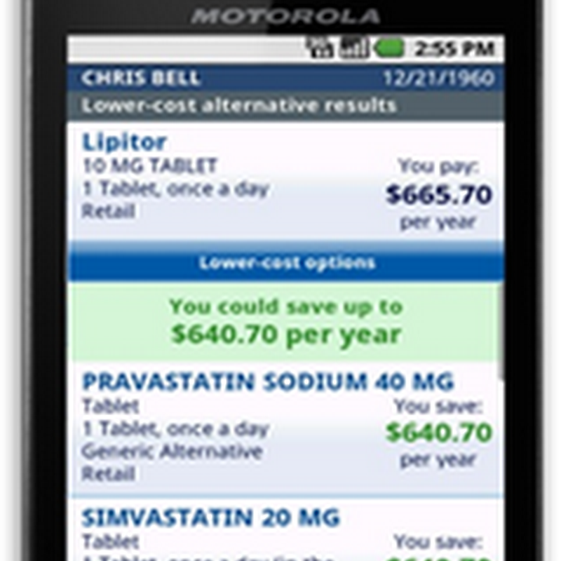 Verizon (VCast) And Medco Health Release Mobile Application for Smartphones to Find the Cheapest Drugs