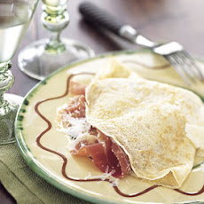 Golden Pancakes with Pecorino and Prosciutto