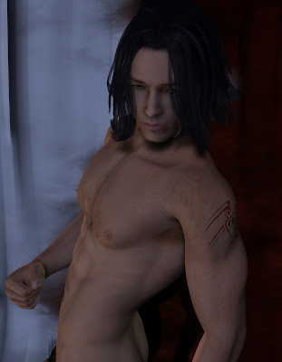 3d rendition of my dark haired character