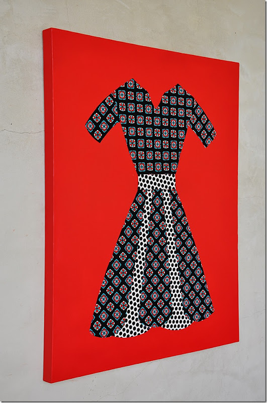 fabric dress wall art 032