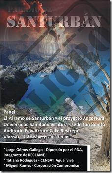 afiche paramo de santunban MEDELLIN