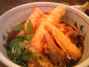 くら嶋の穴子と野菜の天ぷらそば