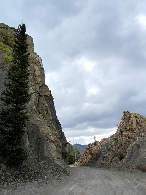 Boreas Pass rock road cut