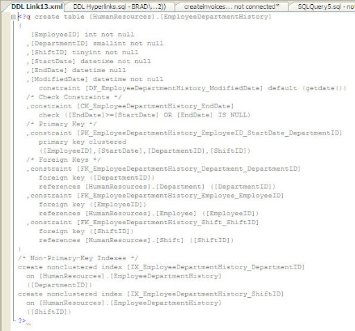 XML Window Opened By Hyperlink