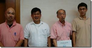 L-R: Dr. Morioka, AQD Chief Dr. JD Toledo, Dr. Hanamura and Dr. Satoshi Watanabe