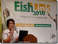 AQD Technology Verification & Demonstration Head Dr. Ma. Rowena Eguia talks about advances in tilapia culture