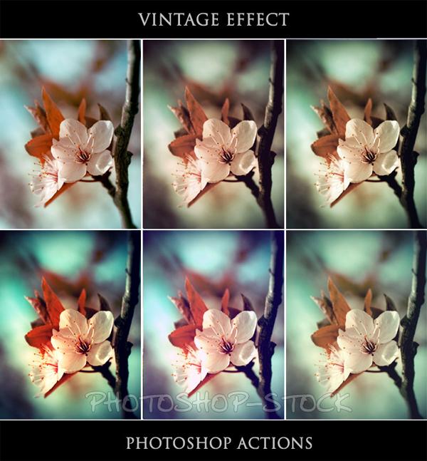 винтажные actions для фотошопа